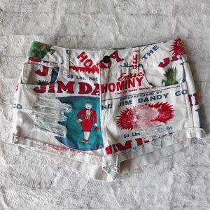 Forever 21| Jim Dandy Novelty Distressed Shorts